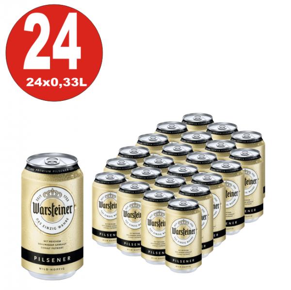24 x Dosen Warsteiner Pilsener 0,33L Dosen 4,8% Vol_EINWEG