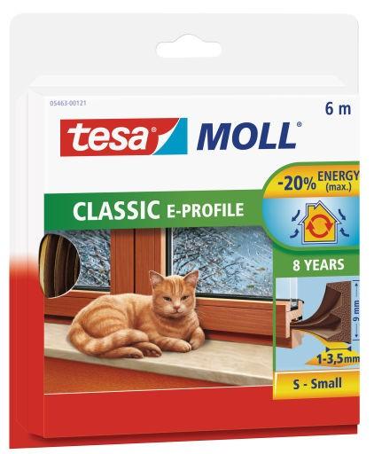 tesamoll® CLASSIC E-Profil Gummidichtung Braun 6 m : 9 mm : 5,5 mm