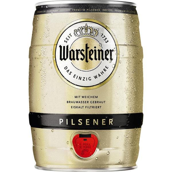 Warsteiner Pils 5 L Partyfass 4,8 % vol.