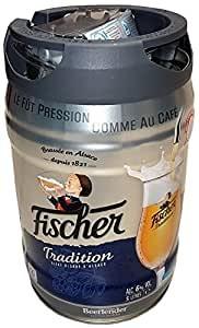 Fischer bier blonde 5 Liter 6,0%vol. mit Zapfhahn Partyfass EINWEG