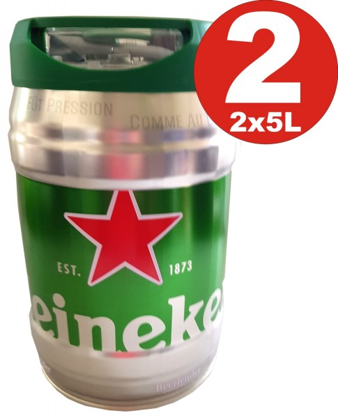 2 x Heineken Partyfass 5L draughtkeg 5%vol.