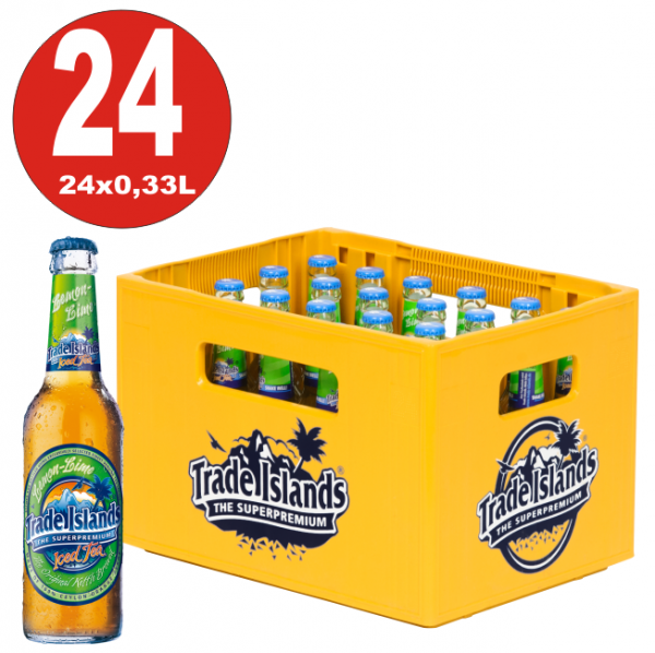 24 x Trade Islands Lemon Lime Premium Ice Tea 0,33L Glasflasche in Originalkiste MEHRWEG Eistee