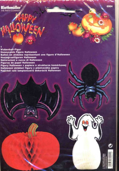 Halloween Wabenball Figur Kuerbis