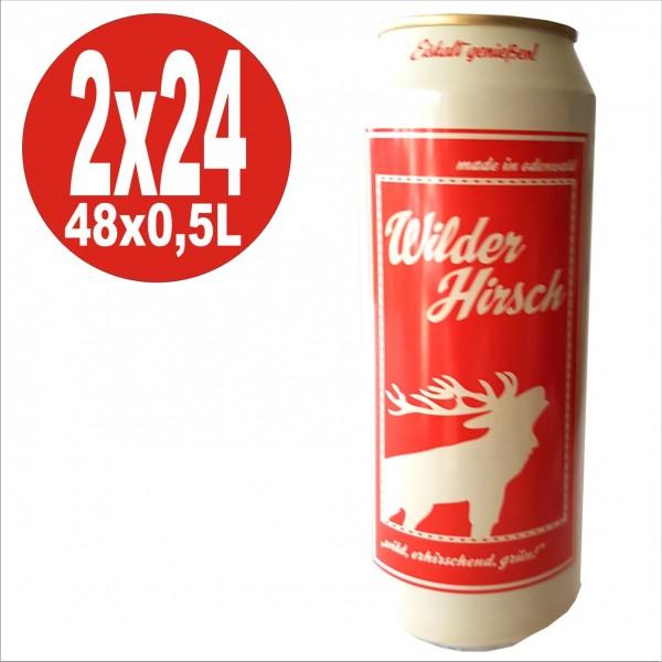 2x24 0,5L Wilder Hirsch grün Cider Mix Getränk,Dose, Apfel,Maracuja, Zitrone 2,9% vol.Alc. Pfandfre