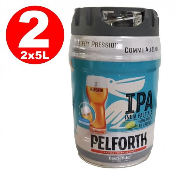 2 x Pelforth IPA India Pale Ale Hopfen und Früchte 5 Liter Partyfass 5,9% vol. EINWEG