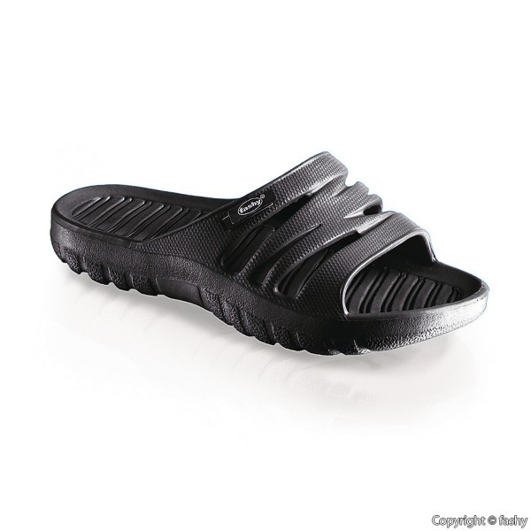 Fashy Ultraleicht Pantolette Größe 36 schwarz Unisex Dusch- Badeschuhe