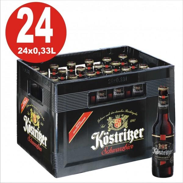 24 x Köstritzer Schwarzbier 0,33 Originalkiste 4,8% Vol. alc MEHRWEG