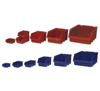 Sichtlagerkasten SLK1 rot 100x100x50 mm