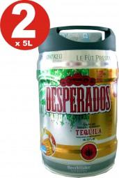 2 x Desperados Bier mit Tequila Partyfass 5 Liter Fass inkl. Zapfhahn 5,9% vol.