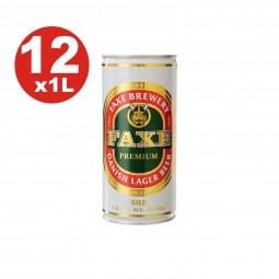 12 x Faxe Premium Dänische Lagerbier 5 % vol 1 Liter Dose