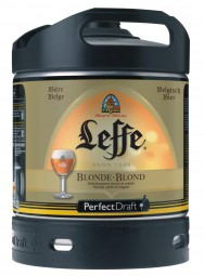 Leffe blonde aus Belgien Perfect Draft 6 Liter Fass 6,6 % vol.