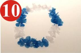 10 x Hawaiikette blau-weiss Bayern - ca.90 cm lang